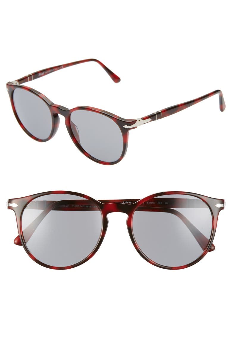 PERSOL 53mm Cat Eye Sunglasses, Main, color, BROWN/ GREY