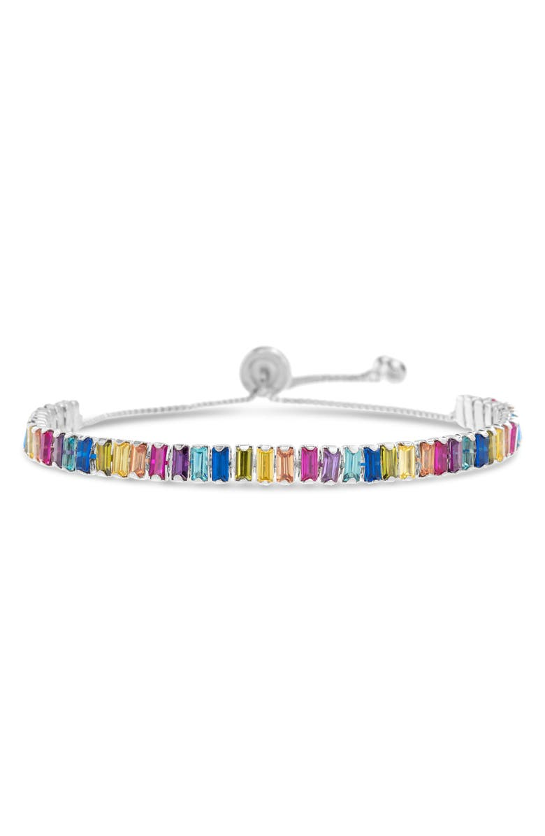 LESA MICHELE Slider Bracelet, Main, color, SILVER/ MULTI