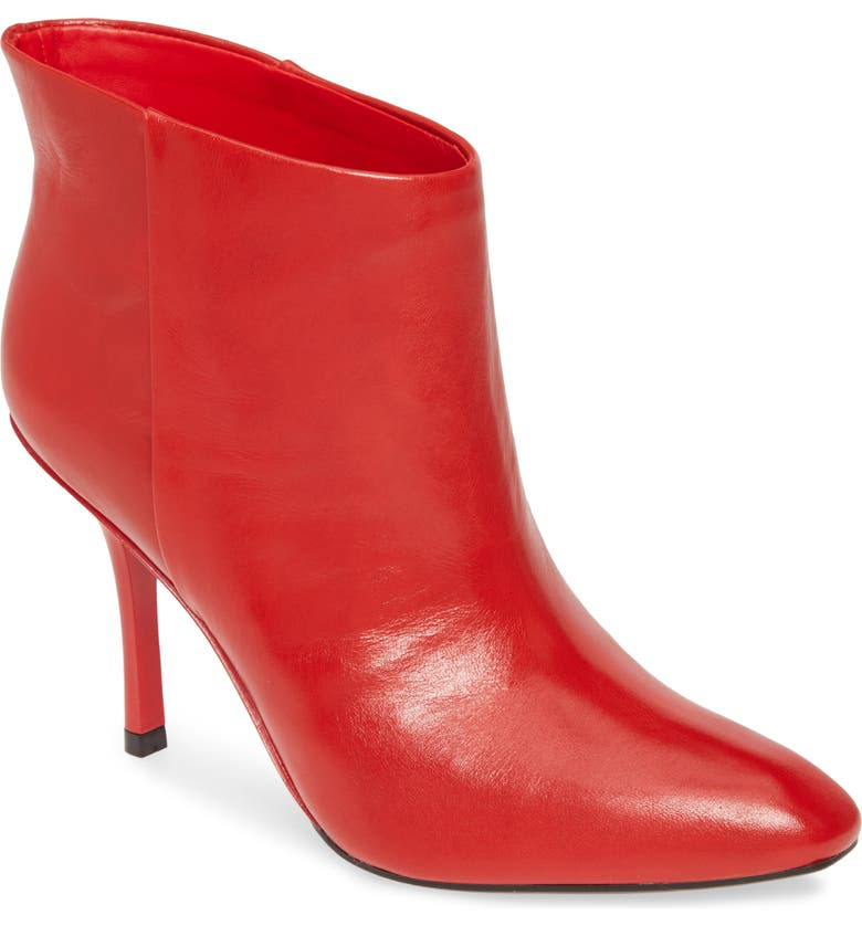 CALVIN KLEIN Mim Bootie, Main, color, RED LEATHER
