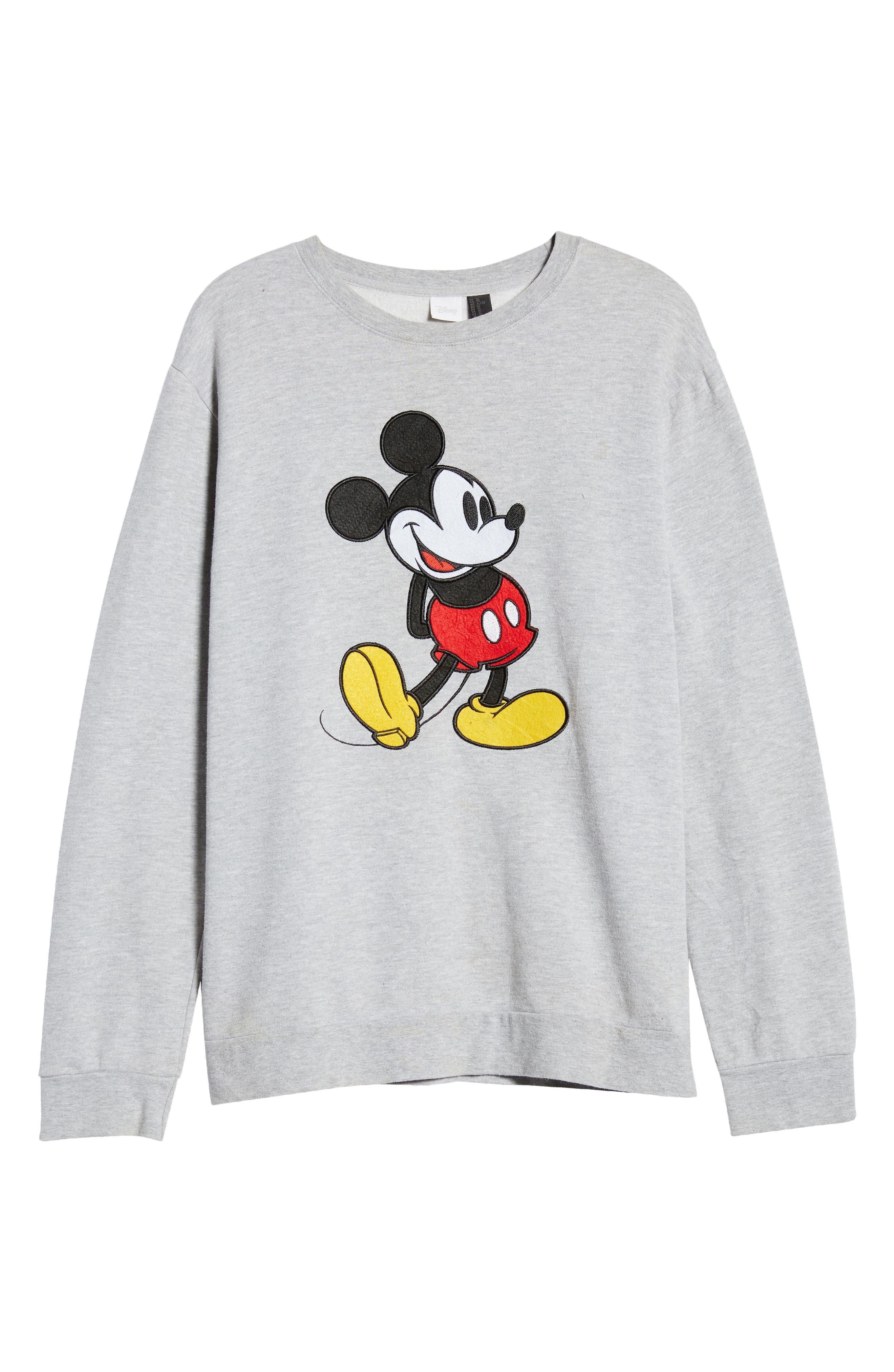 Unisex Secondhand Mickey Embroidered Sweatshirt