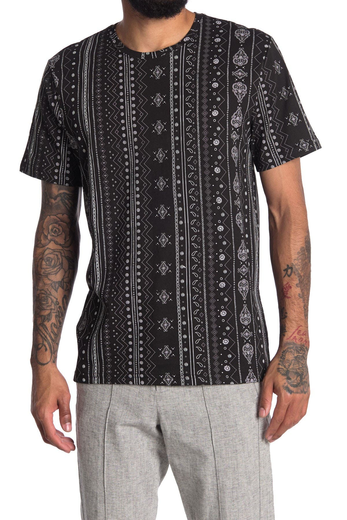 Image of Abound Printed Crew Neck Short Sleeve Shirt