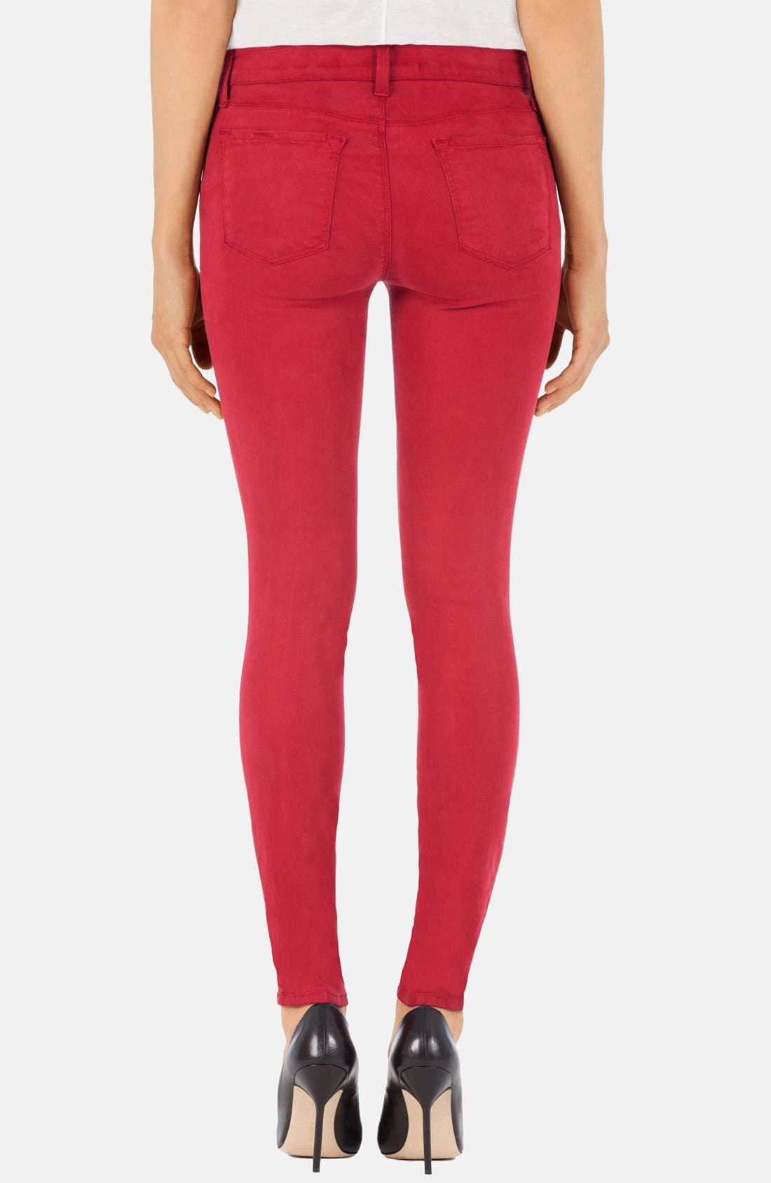 ,                             '485' Mid Rise Super Skinny Jeans,                             Alternate thumbnail 53, color,                             605