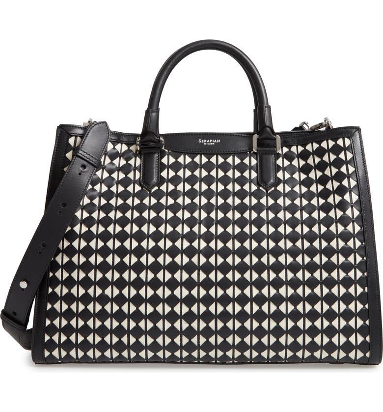 SERAPIAN MILANO Lorelei Mosaico Handbag, Main, color, 001