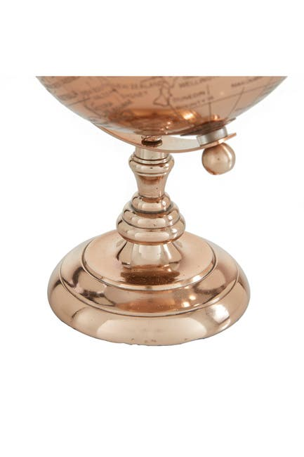"""Image of Willow Row Rose Gold Aluminum Traditional Globe, 10"""" x 6"""" x 6"""""""