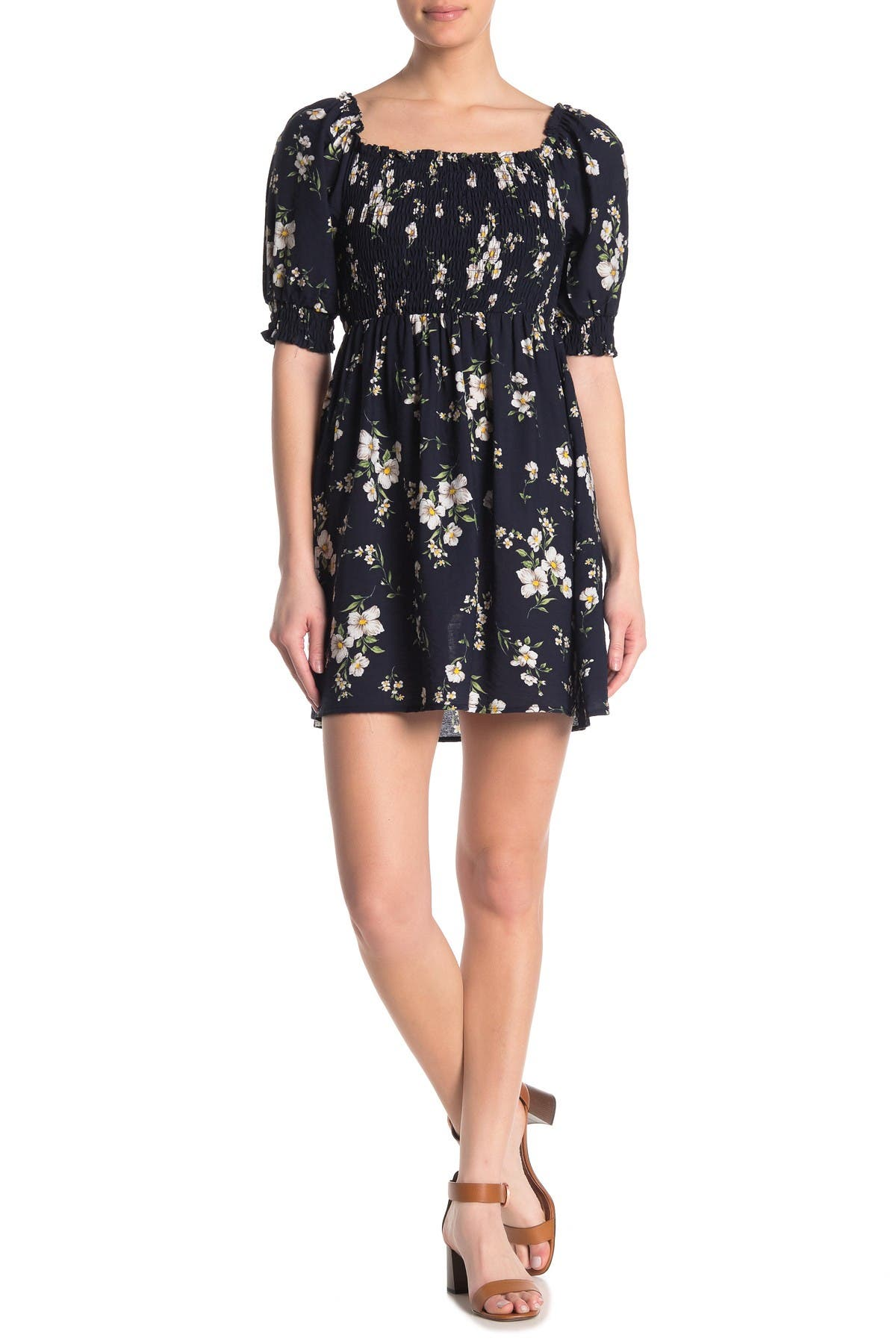 Image of SWEET RAIN Elbow Sleeve Floral Dress
