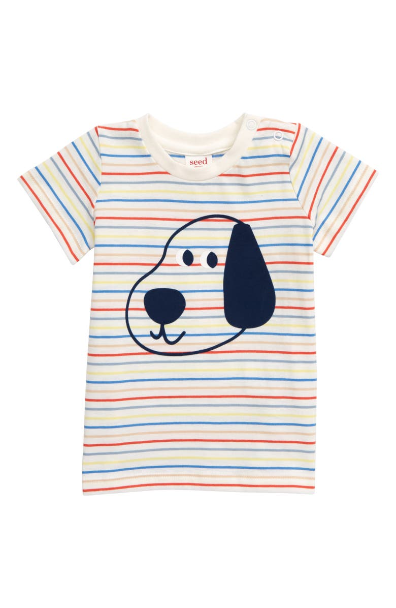 SEED HERITAGE Puppy Stripe T-Shirt, Main, color, BLUE MULTI