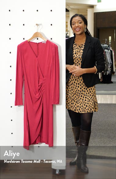 Long Sleeve Wrap Dress, sales video thumbnail