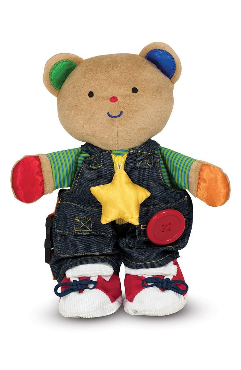 MELISSA & DOUG 'Teddy Wear' Plush Toy, Main, color, BROWN