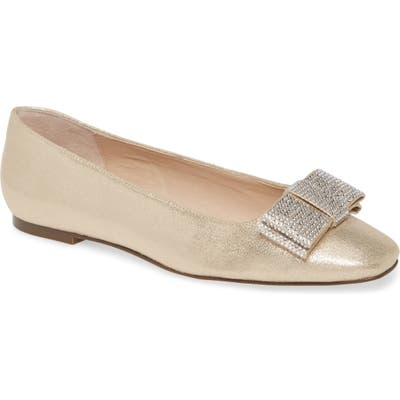Nina Ferrie Bow Flat, Metallic