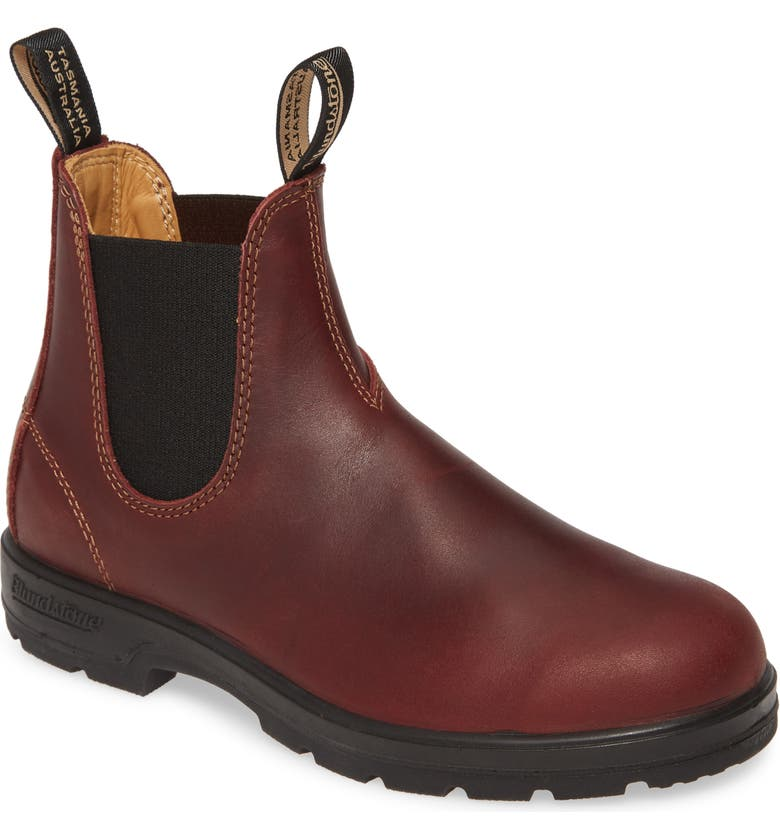 BLUNDSTONE FOOTWEAR Super 550 Series Water Resistant Chelsea Boot, Main, color, REDWOOD LEATHER