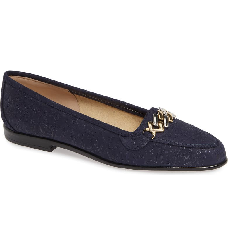 AMALFI BY RANGONI Oste Loafer, Main, color, NAVY PRINTED LEATHER