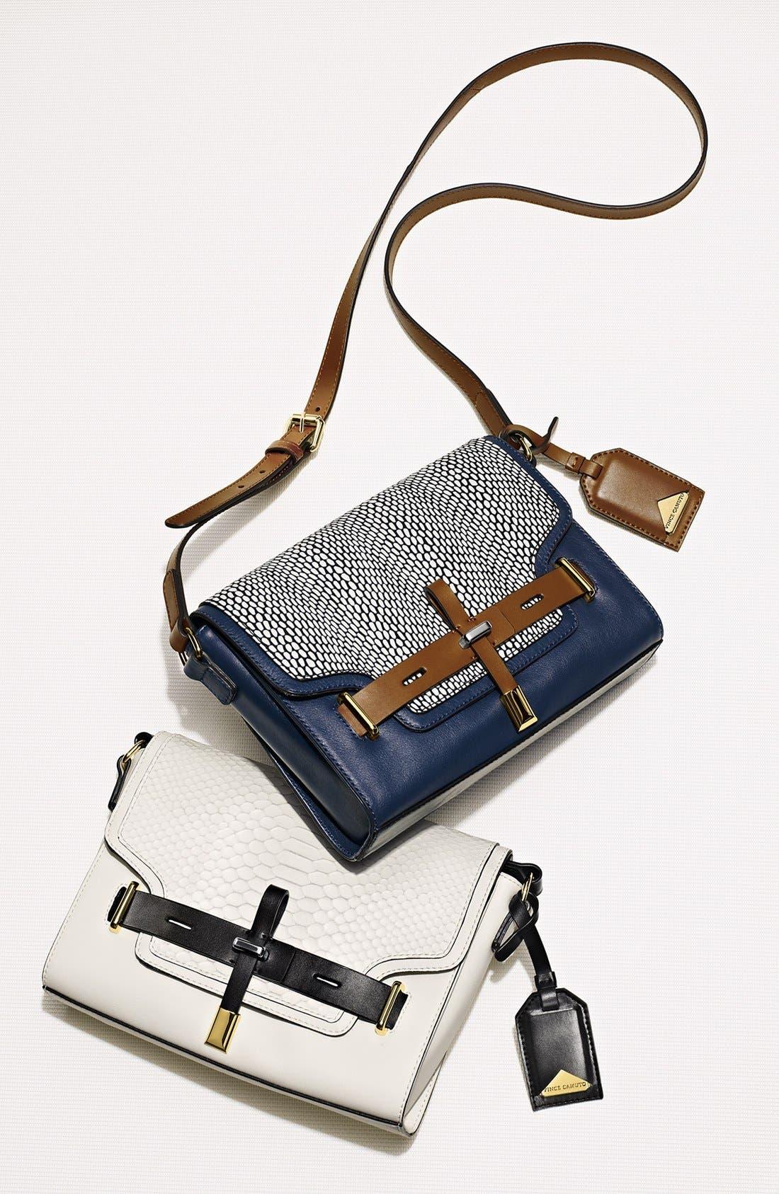 ,                             'Max' Leather Crossbody Bag,                             Alternate thumbnail 3, color,                             002