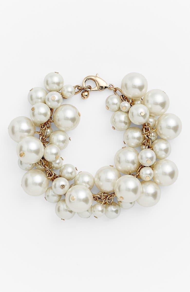 NORDSTROM Faux Pearl Bracelet, Main, color, 130