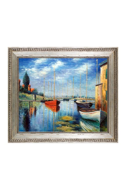 Image of Overstock Art Argenteuil, Yachts 02 by Claude Monet Framed Hand Painted Oil on Canvas