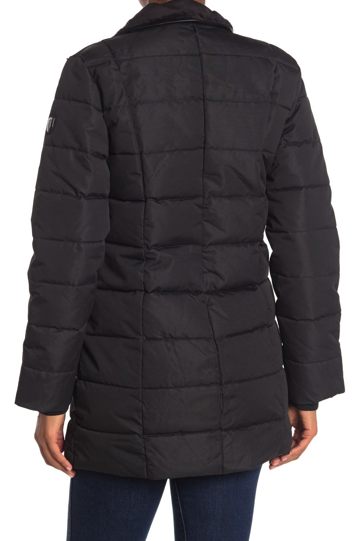 Image of NOIZE Hailey Heavyweight Faux Fur Quilted Parka