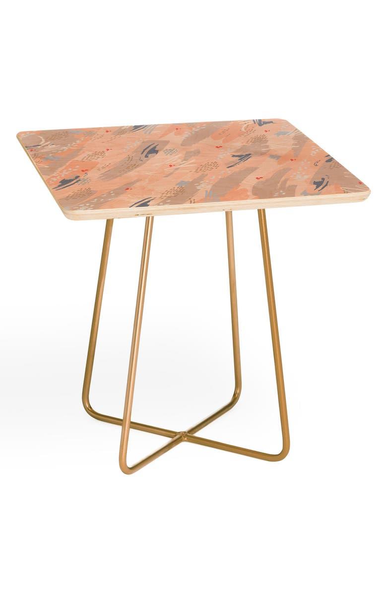 DENY DESIGNS Iveta Abolina Happy Friday Side Table, Main, color, PINK