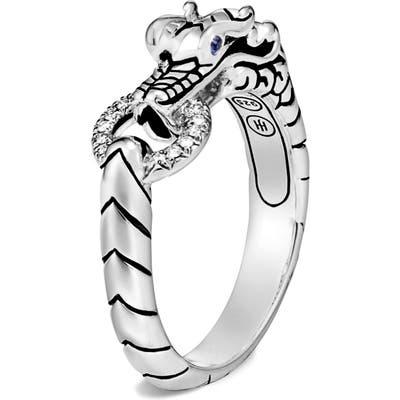 John Hardy Legends Naga Silver Diamond Ring