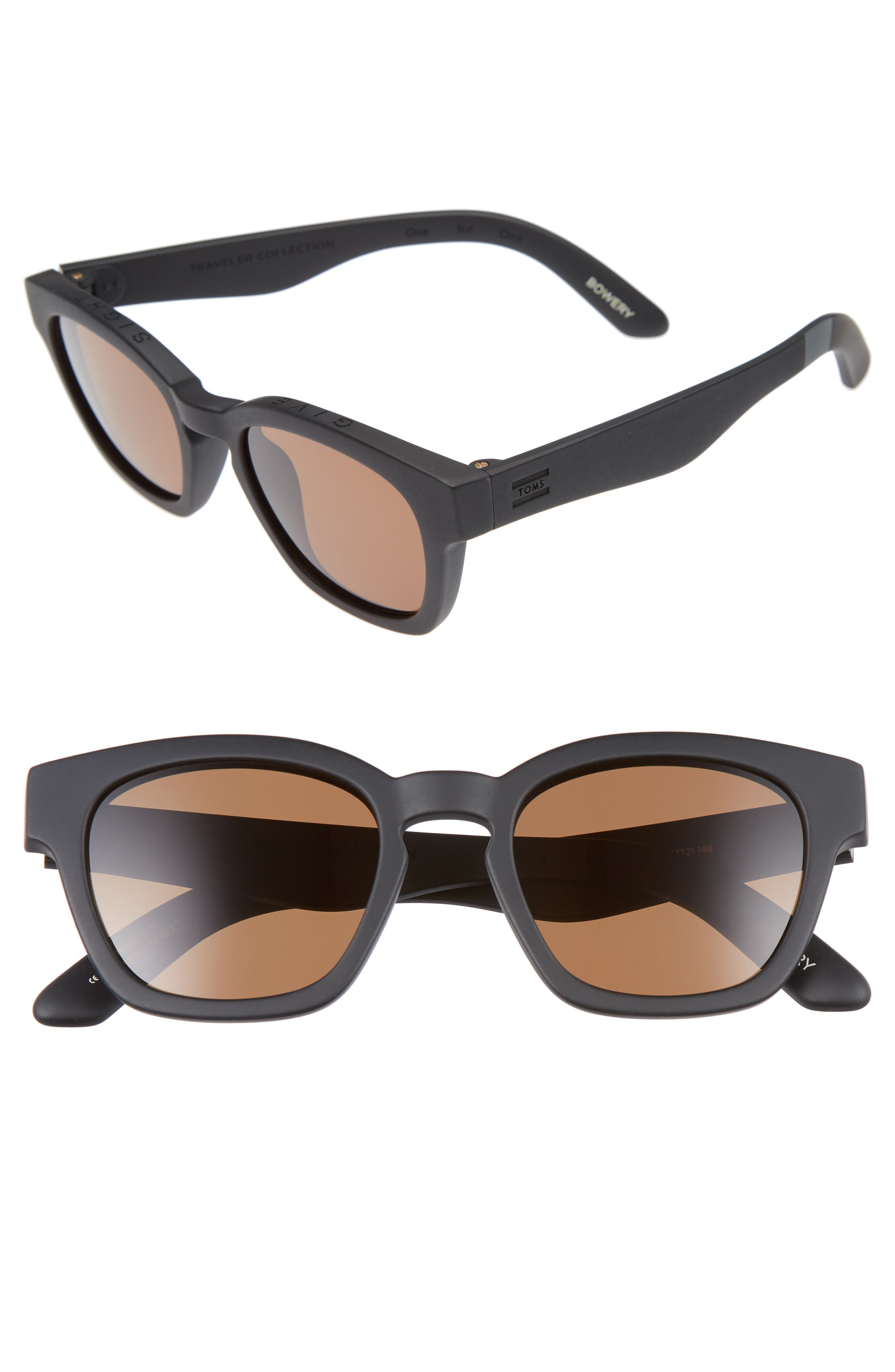 ,                             Bowery 51mm Sunglasses,                             Alternate thumbnail 5, color,                             001