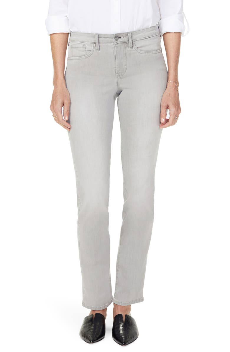 NYDJ Sheri High Waist Slim Fit Jeans, Main, color, GALE