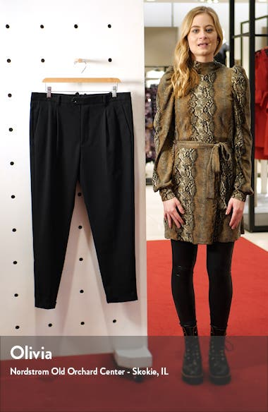 Tallis Pleated Cotton & Wool Trousers, sales video thumbnail