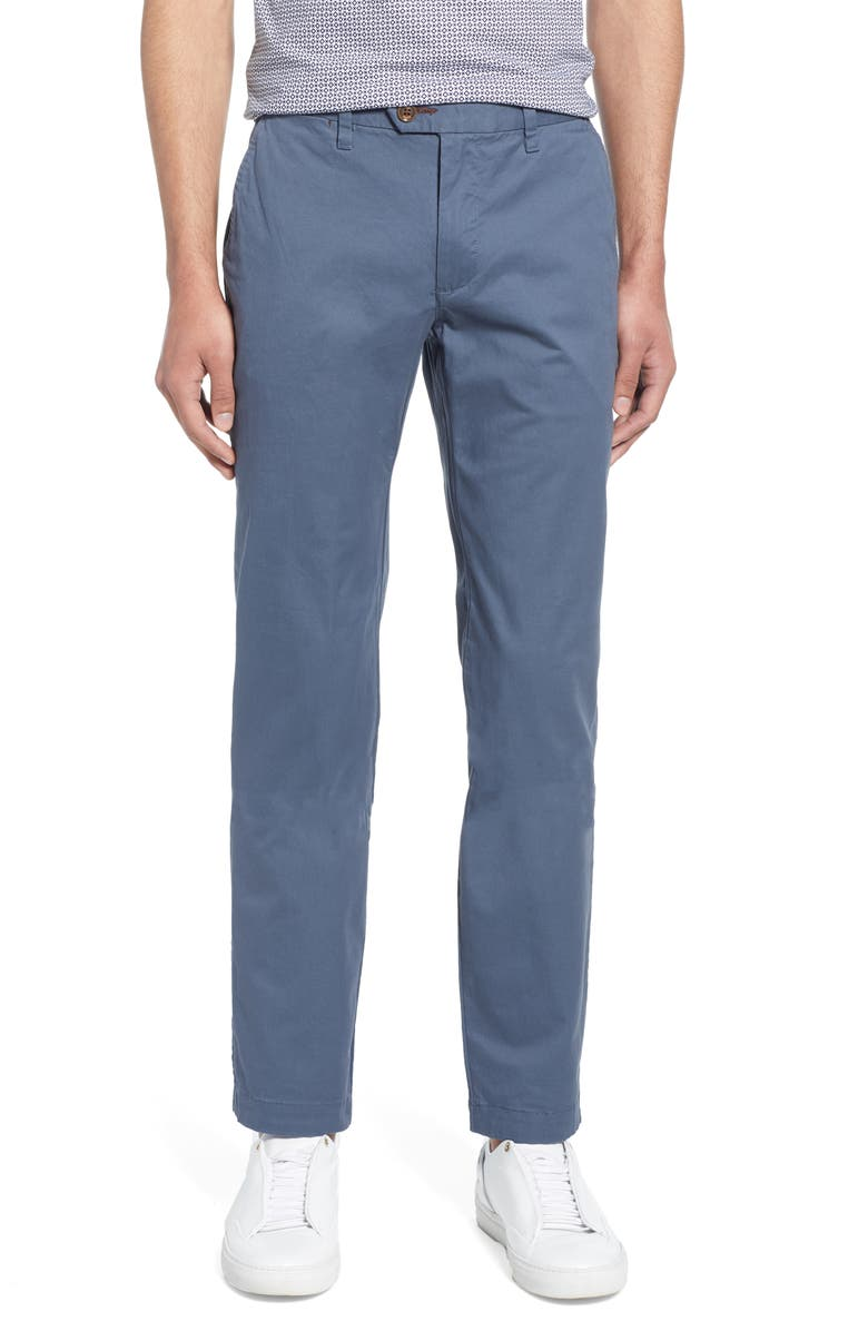 TED BAKER LONDON Seenchi Slim Fit Chinos, Main, color, MID-BLUE