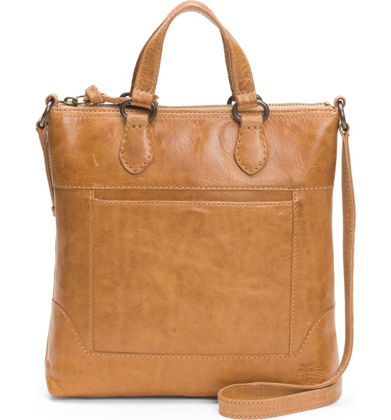 FRYE Melissa Small Leather Tote, Main, color, BEIGE