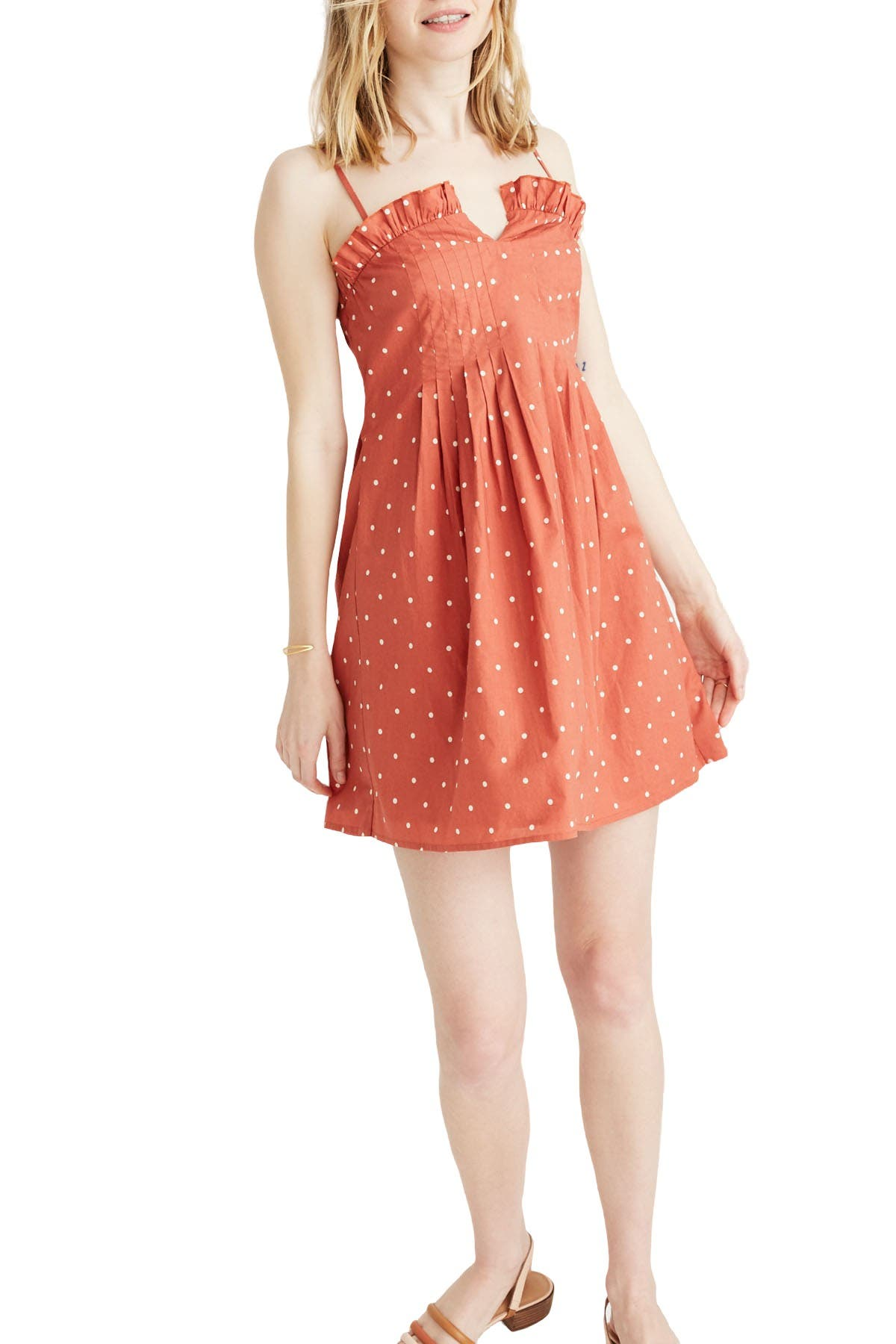 Image of Madewell Polka Dot Pintuck Cami Dress