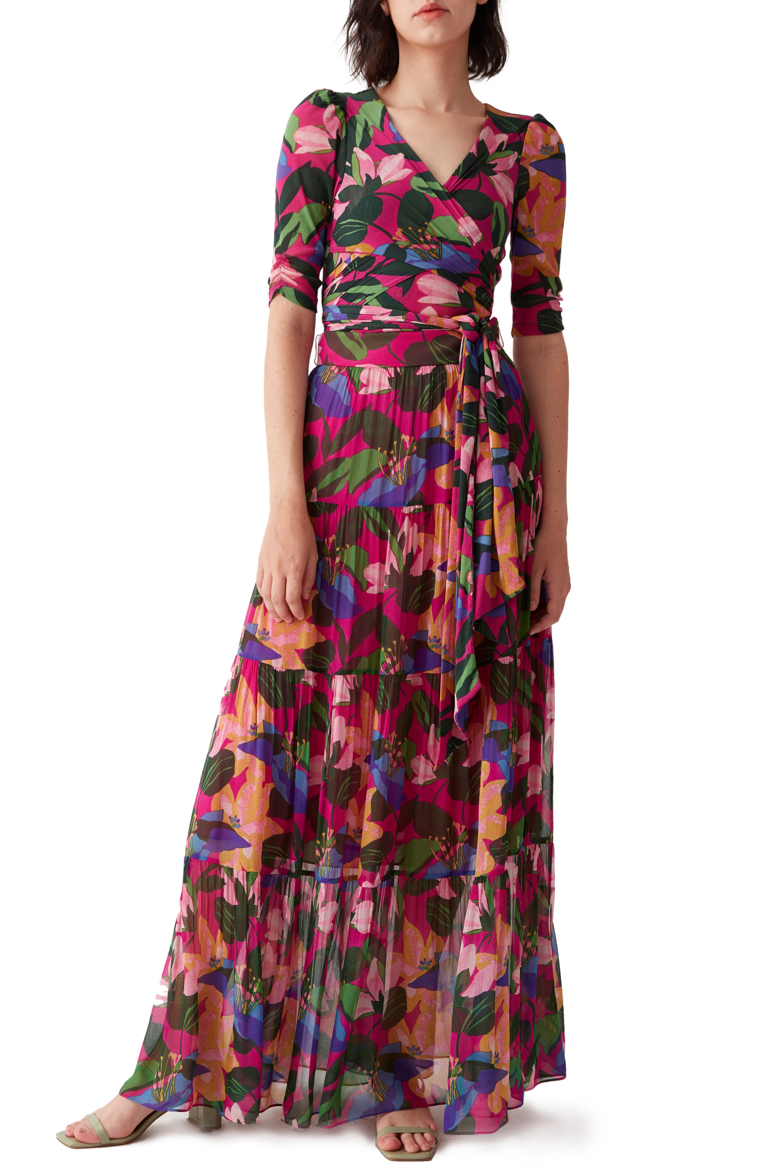 Lillian Floral Tiered A-Line Maxi Skirt