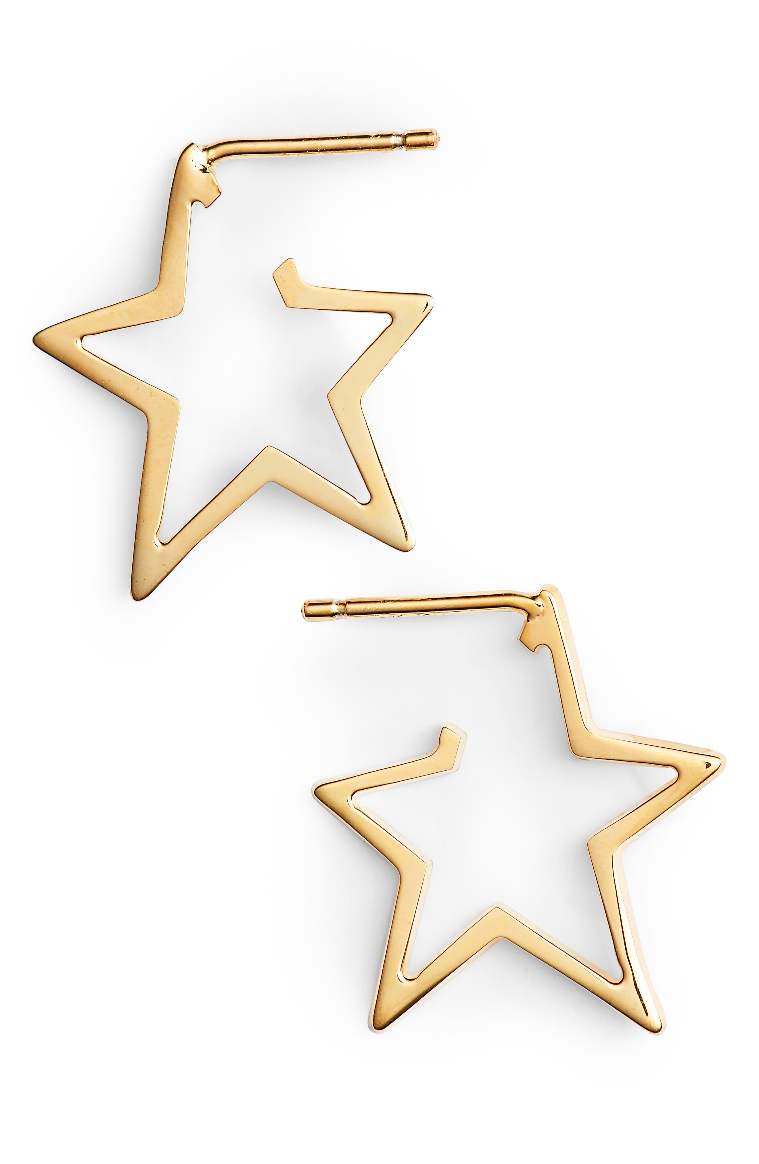 Sade Star Small Hoops