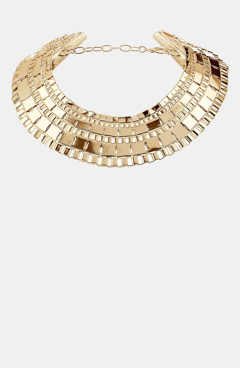 TOPSHOP Chunky Box Collar Necklace, Main, color, 710