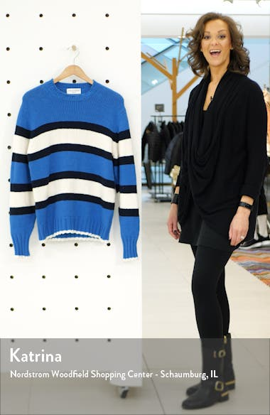 Slim Fit Stripe Crewneck Sweater, sales video thumbnail