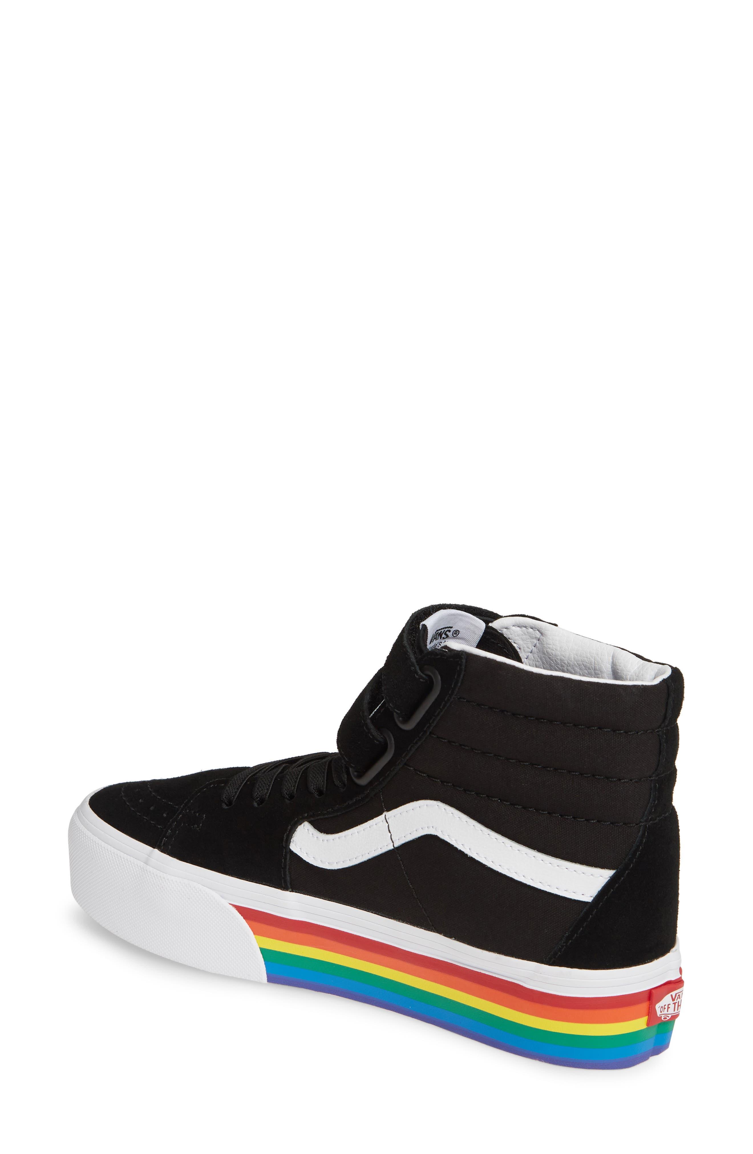 ,                             Sk8-Hi V Rainbow Platform Sneaker,                             Alternate thumbnail 2, color,                             RAINBOW BLACK/ TRUE WHITE