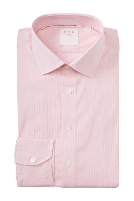 Image of THOMAS PINK Micro Check Print Dress Shirt