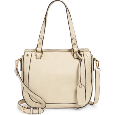 Sole Society Rubie Faux Leather Satchel - Ivory