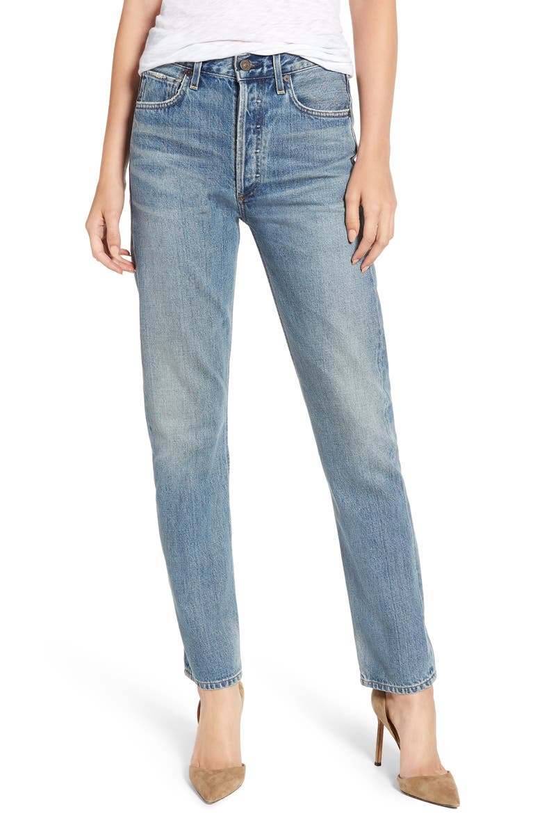 CITIZENS OF HUMANITY Straight Leg Jeans, Main, color, BARROW