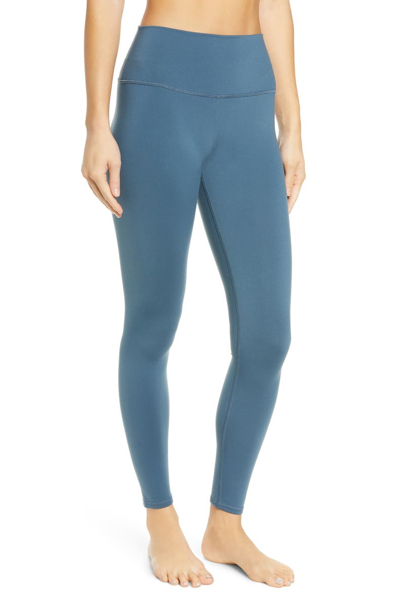 ALO Airbrush High Waist Leggings, Main, color, DEEP JADE
