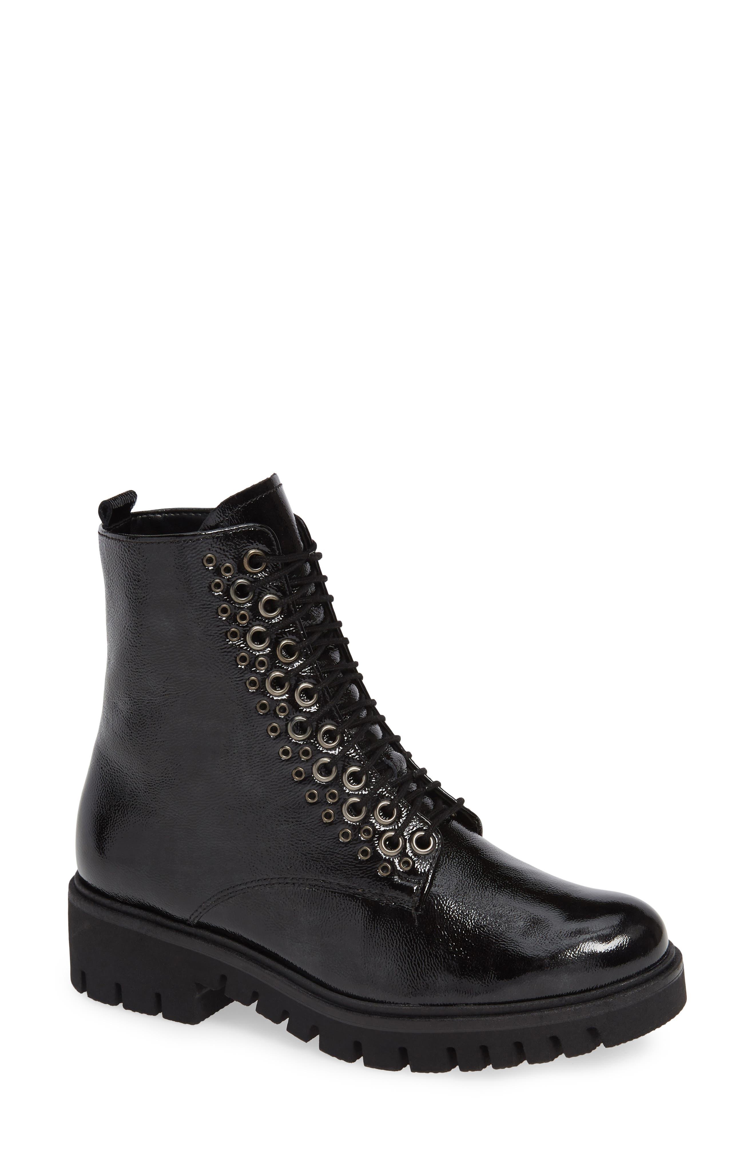 Gabor Combat Boot- Black