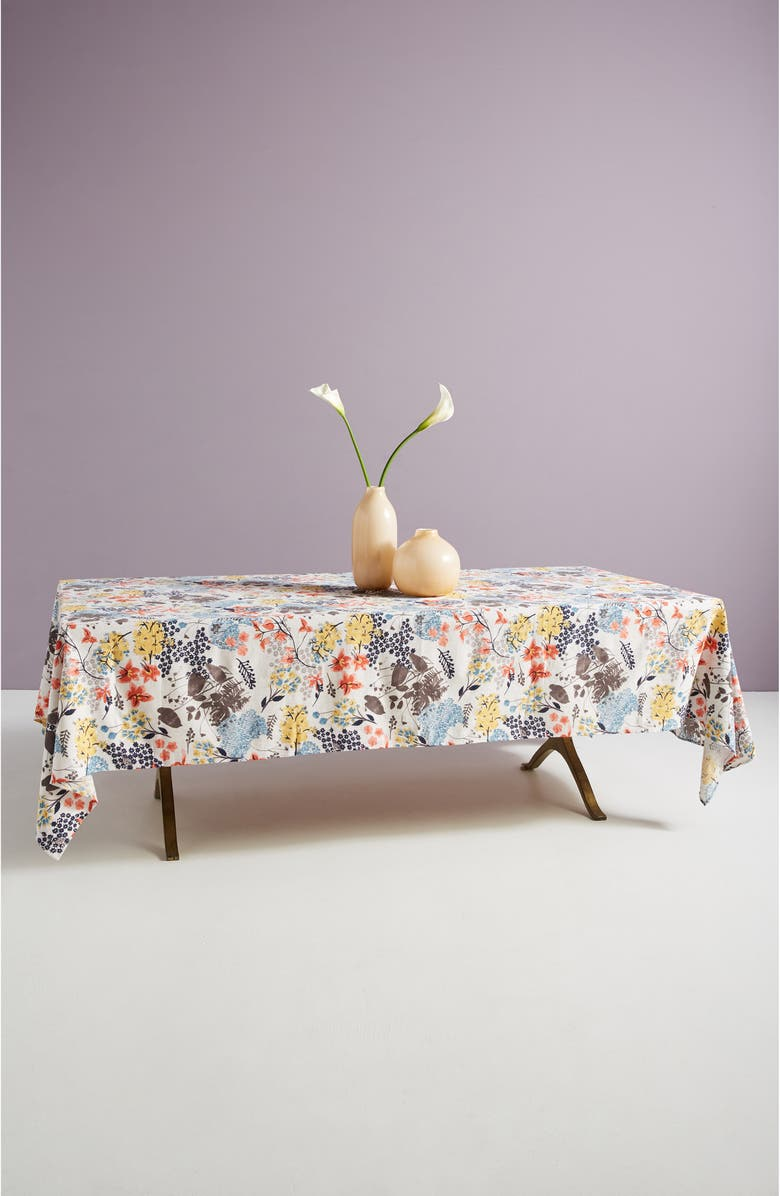 ANTHROPOLOGIE HOME Rosie Floral Tablecloth, Main, color, MULTI