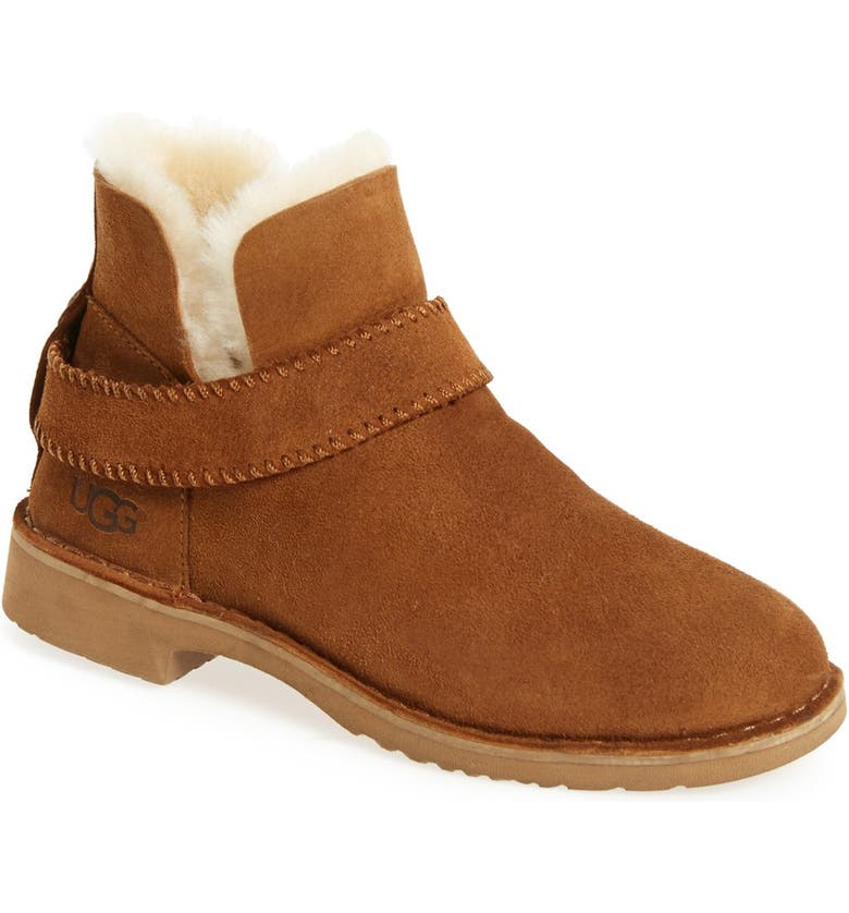 UGG<SUP>®</SUP> McKay Water Resistant Bootie, Main, color, CHESTNUT SUEDE