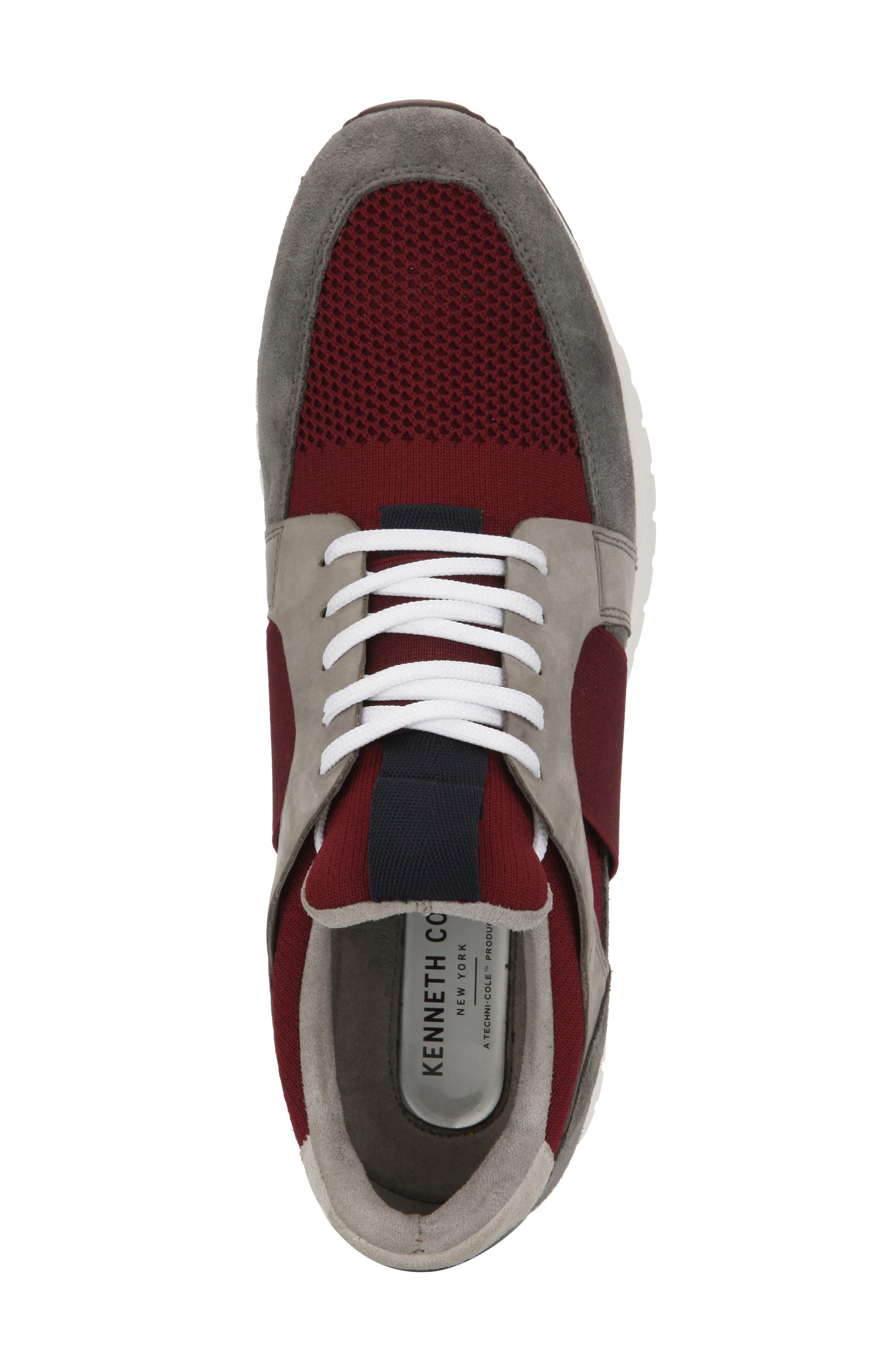 ,                             Bailey Sneaker,                             Alternate thumbnail 3, color,                             BORDEAUX LEATHER
