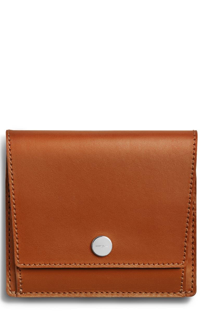 SHINOLA Birdy Leather Snap Wallet, Main, color, 205