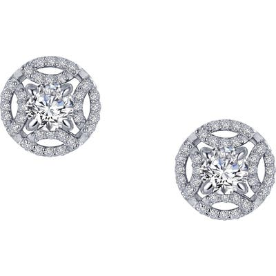 Lafonn Simulated Diamond Button Earrings