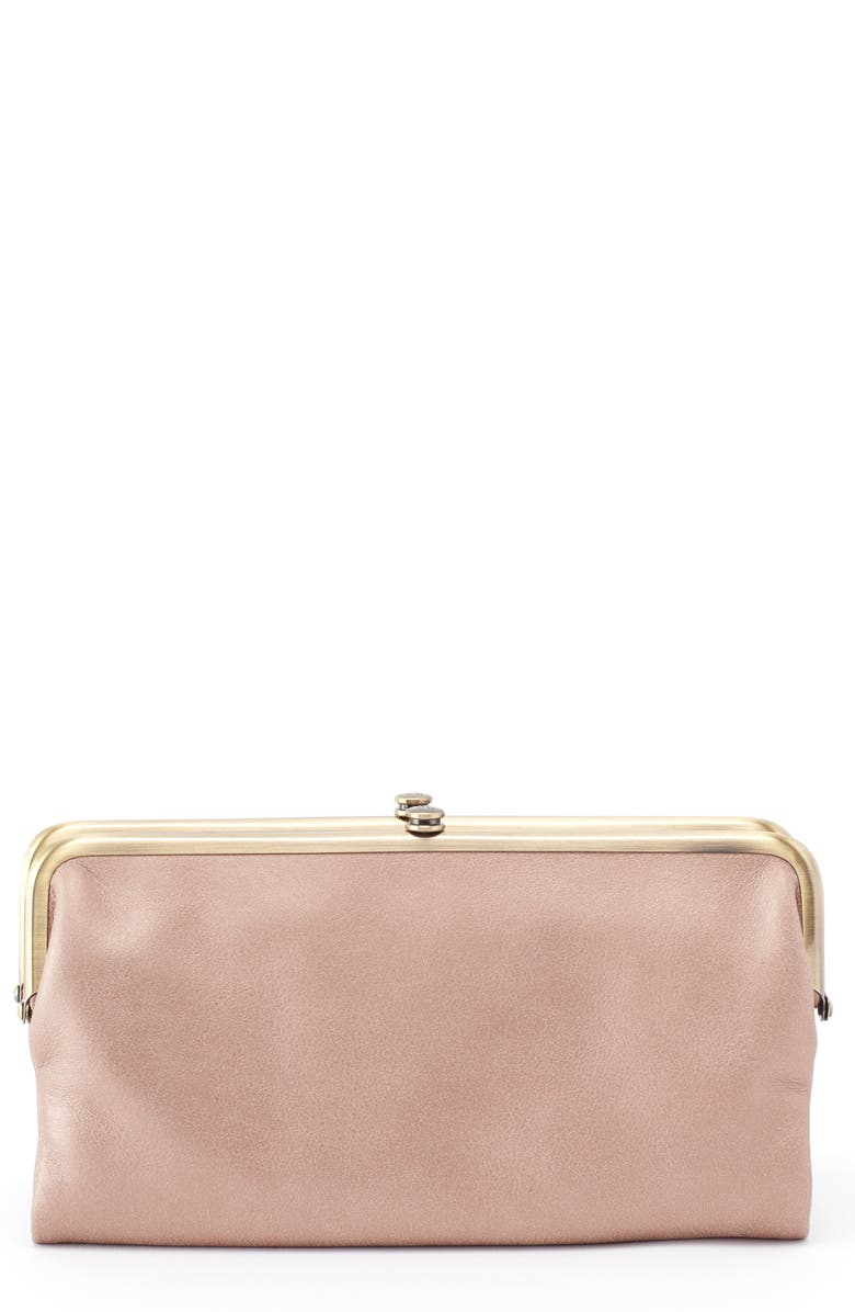HOBO 'Lauren' Leather Double Frame Clutch, Main, color, 030