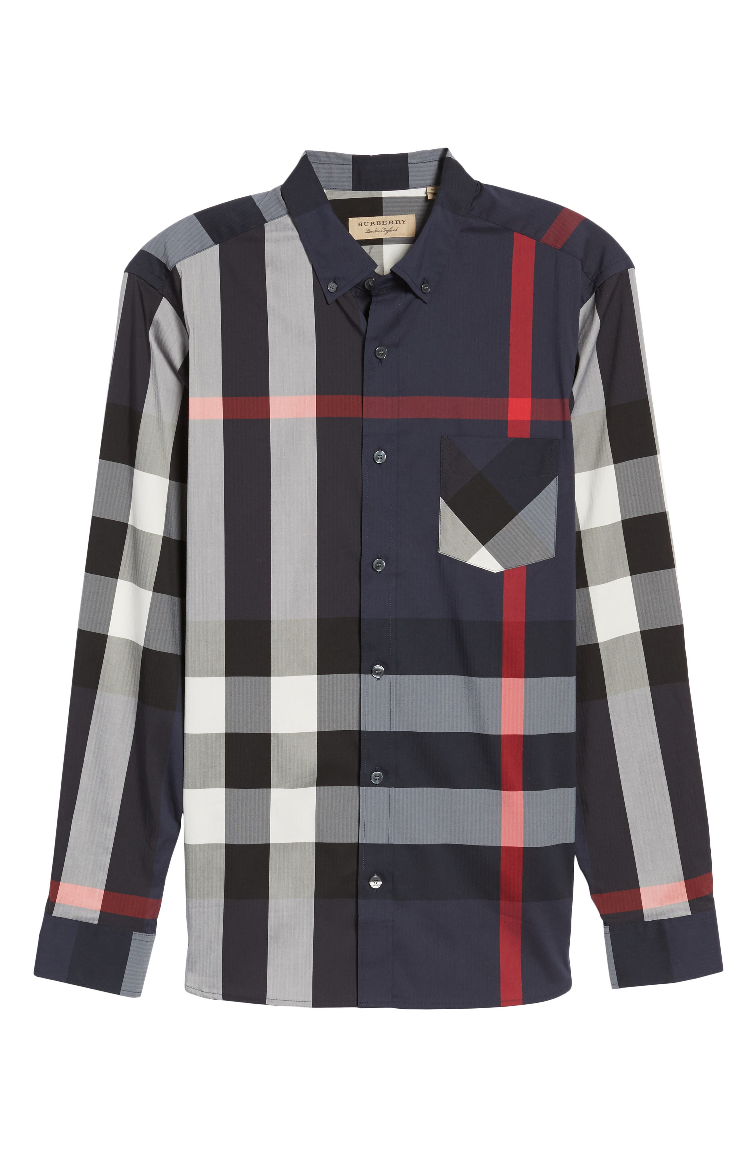 ,                             Thornaby Slim Fit Plaid Sport Shirt,                             Alternate thumbnail 28, color,                             410