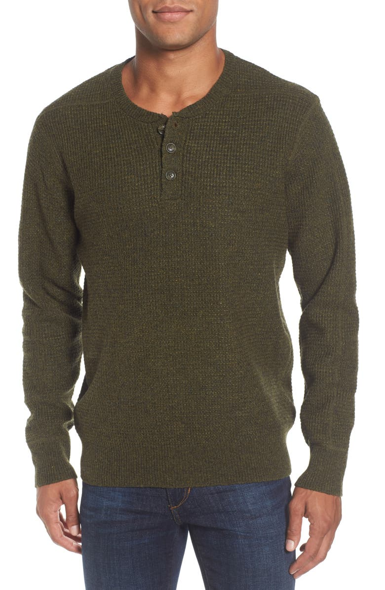 SCHOTT NYC Thermal Henley, Main, color, MOSS GREEN