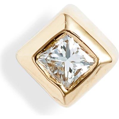Zoe Chicco Small Princess Diamond Stud Earring