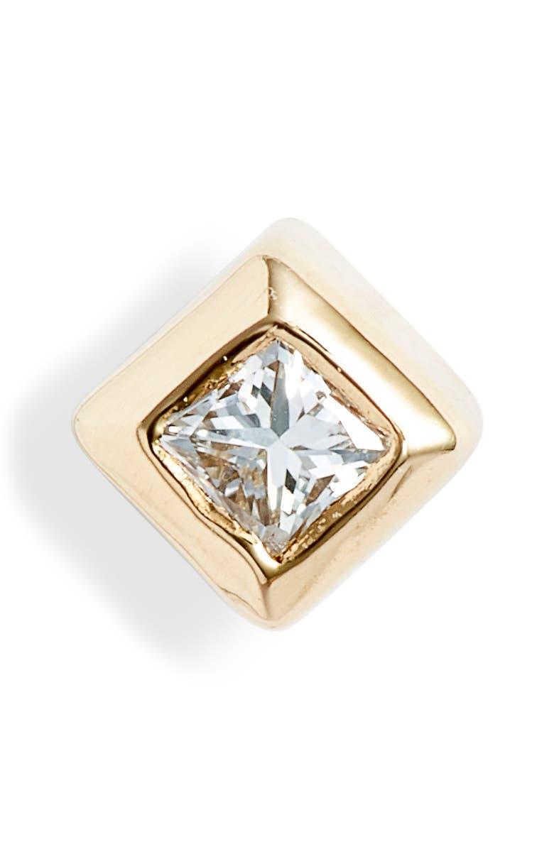 ZOË CHICCO Small Princess Diamond Stud Earring, Main, color, 710