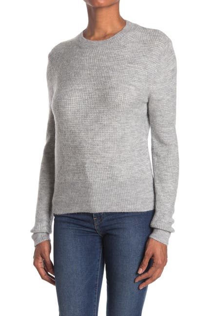 Image of Sophie Rue Crew Neck Waffle Knit Sweater