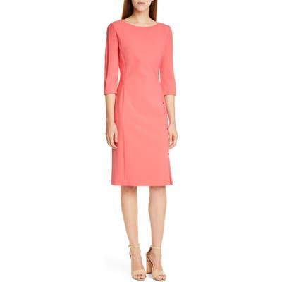 Boss Dikena Ponte Sheath Dress, Coral