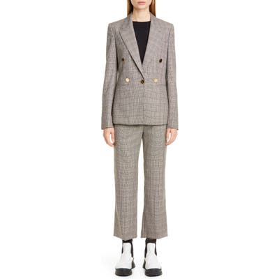 Stella Mccartney Check Wool Trousers, US / 42 IT - Beige